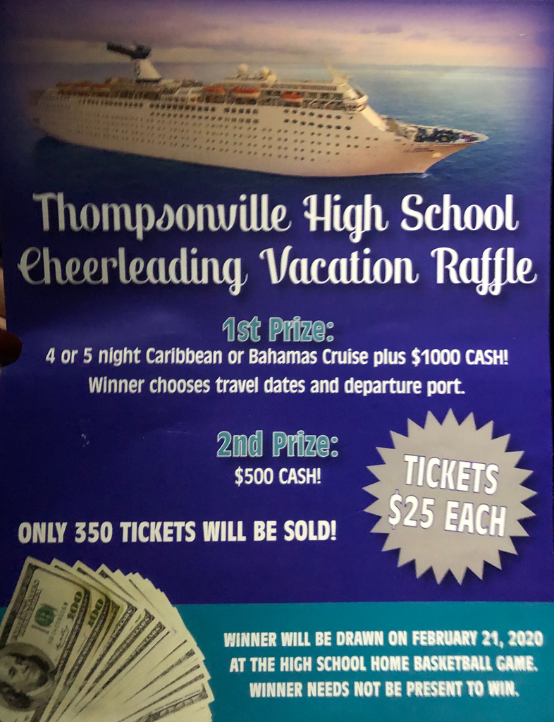 TCHS cheerleading vacation raffle